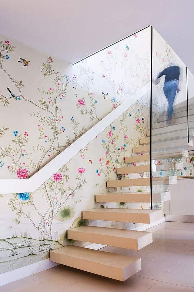 Colorful Staircase Designs 30 Ideas To Consider For A Modern Home | Stairs Wall Paint Design | Designer | Fancy | Beautiful | Staircase Railing Wood | Wall Colour