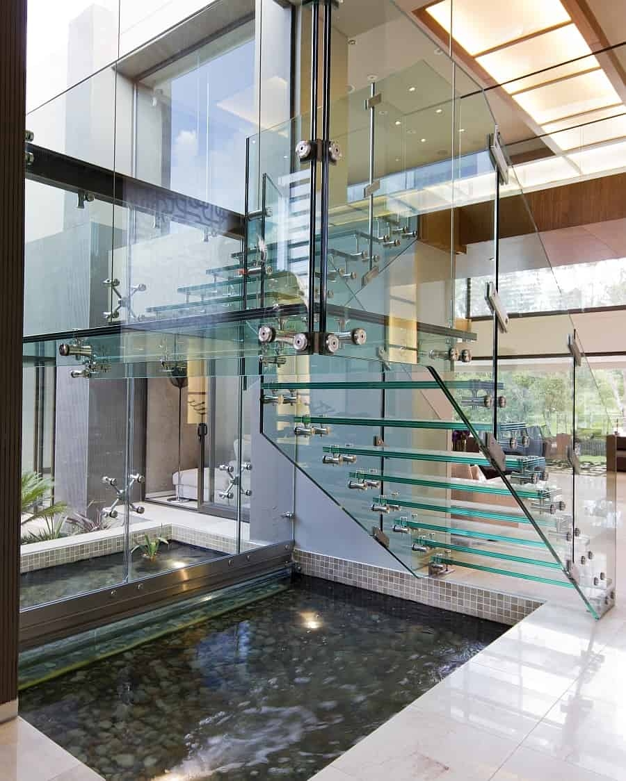 35 Sublime Koi Pond Designs And Water Garden Ideas For Modern Homes | Outdoor Garden Under Stairs | Small | Crosstie | Gardening | Landscaping | Lawn
