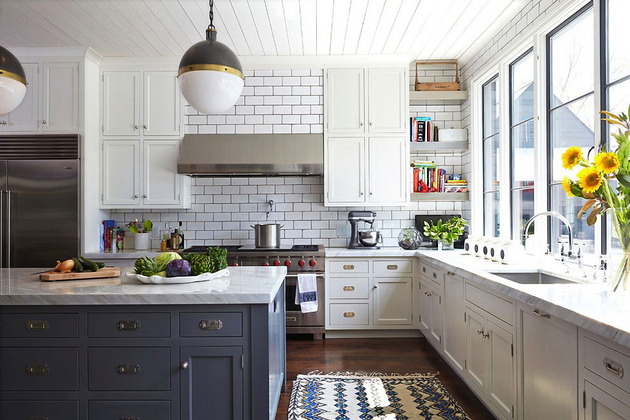 white subway tile kitchen designs are incredibly universal on beautiful kitchen pictures ideas houzz id=67008