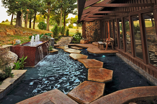 35 Sublime Koi Pond Designs and Water Garden Ideas for ... on Koi Ponds Ideas id=49994