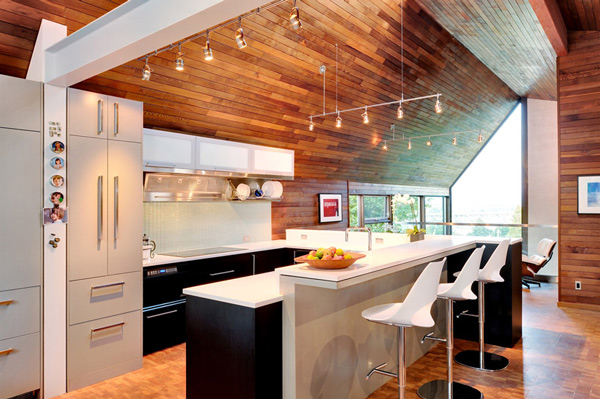kitchen with wooden walls and ceiling on kitchen design ideas photos and videos hgtv id=15319