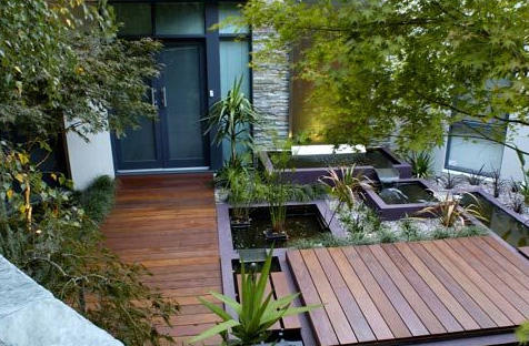 Eco-friendly Water Features by H20 Designs utilise ... on Modern Backyard Water Feature id=36818