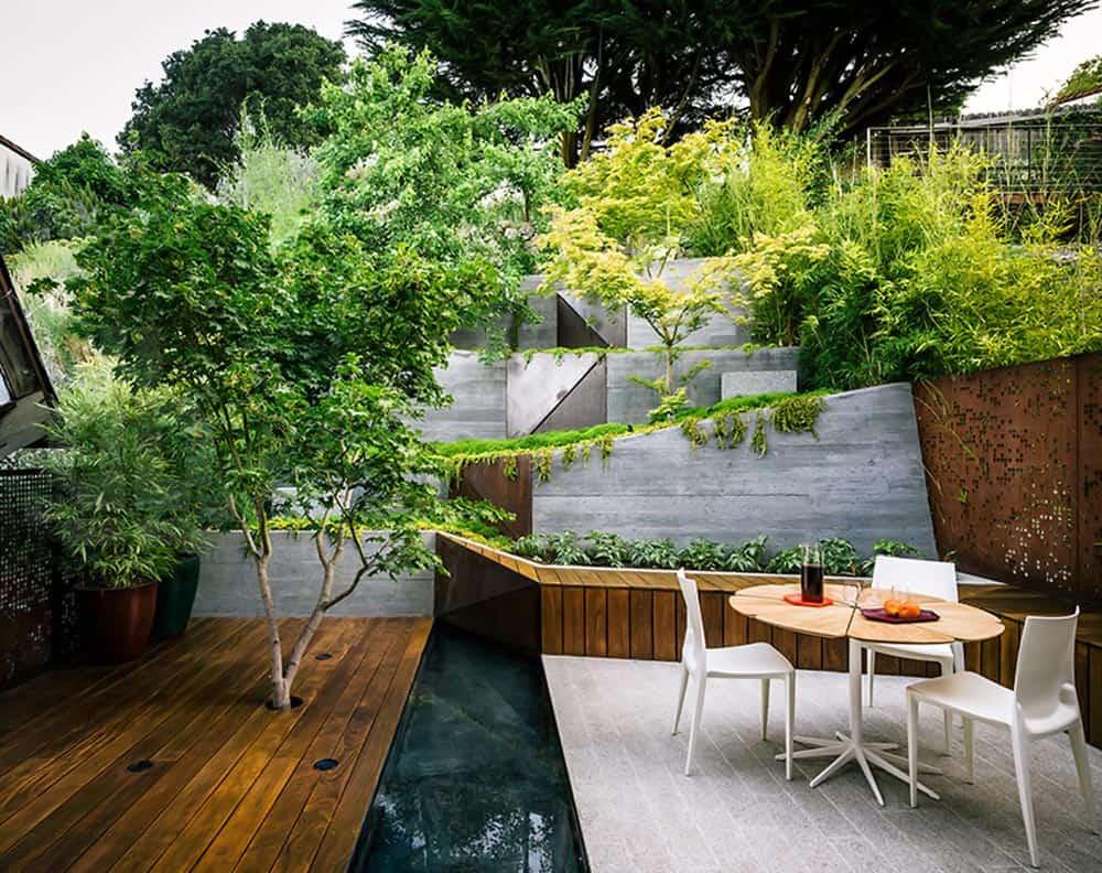 Multi Layered Japanese Style Garden and Sitting Area on Small Garden Sitting Area Ideas  id=34040