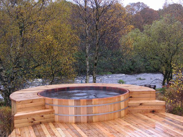 Wooden Cedar Hot Tub From Seaotter Woodworks Natural