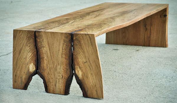 5 fabulous rustic wood slab coffee tables