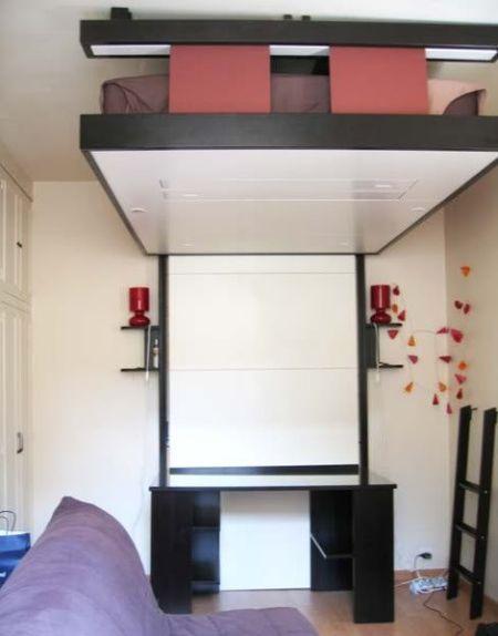 Küçük bir yaşam alanı için yaratıcı İç Tasarım (49 fotoğraf)