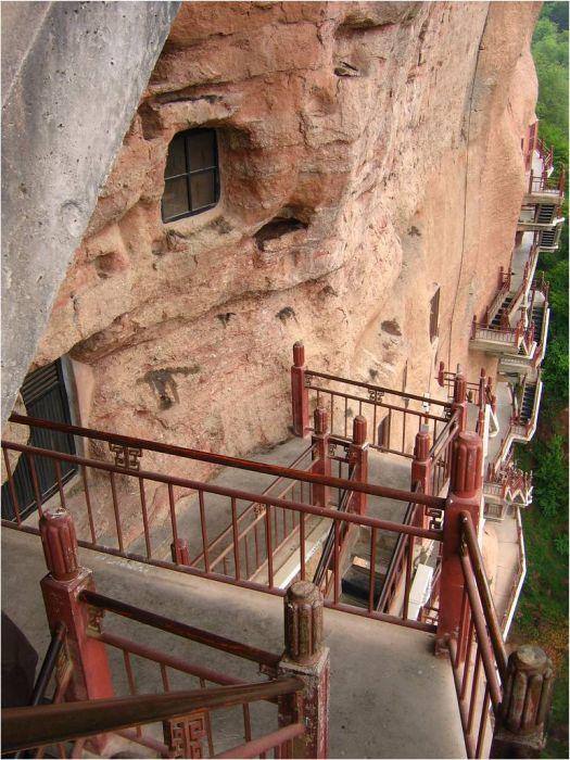 Maijishan Grottoes Mağaraları(12 Fotograf)