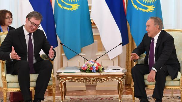 Vučić u Kazahstanu: Jačanje saradnje u oblasti poljoprivrede, transporta i energetike