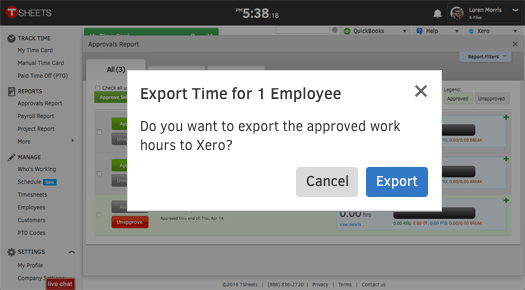 Xero TImesheet   Time Tracking App   Save Hours on Payroll   TSheets
