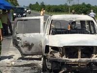 Nghi can chủ mưu đốt xe, giết giám đốc là con gái nạn nhân