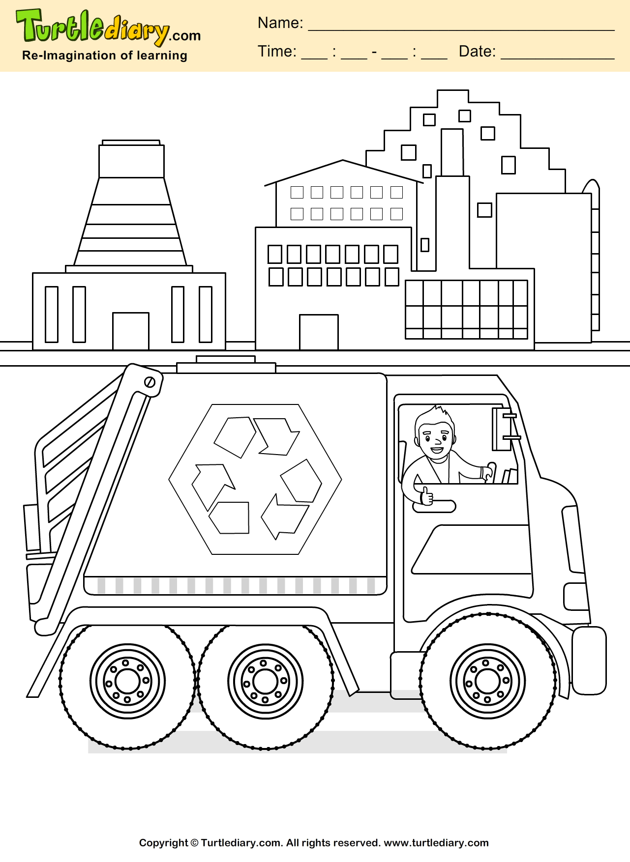 Recycling Coloring Sheet