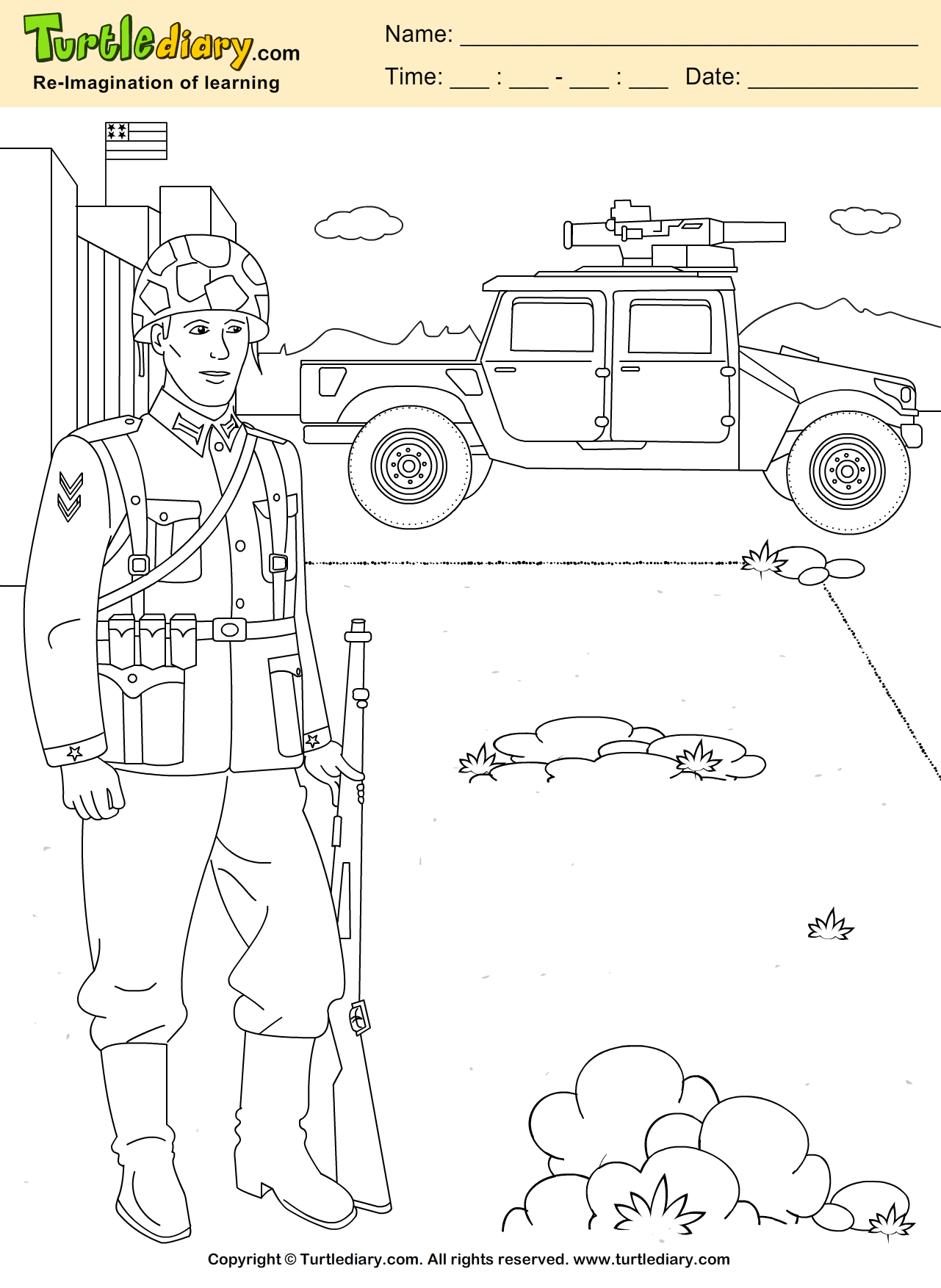 Sol R With Weapon Coloring Sheet