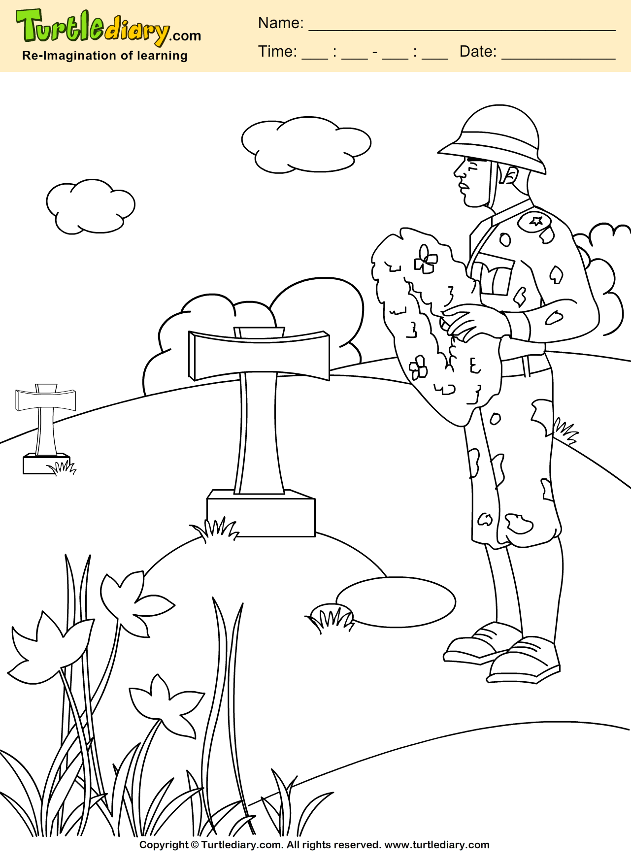 Tribute Coloring Sheet