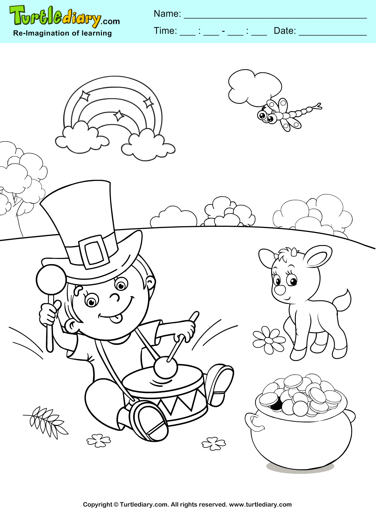 Rainbow Coloring Sheet