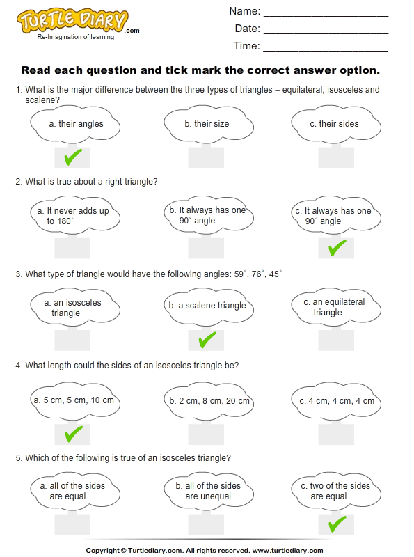 Naming Triangles By Sides And Angles Worksheet