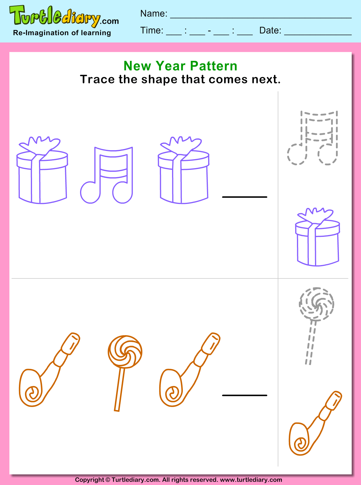 Trace The Pattern That Comes Next Worksheet