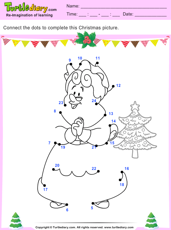 Connect The Dots Mrs Claus Worksheet