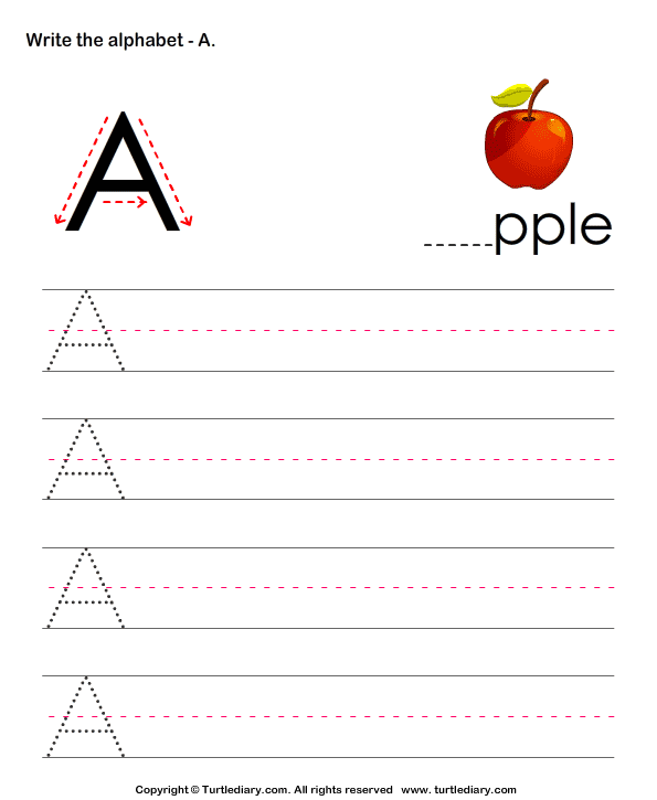 Lowercase Letter V Worksheets