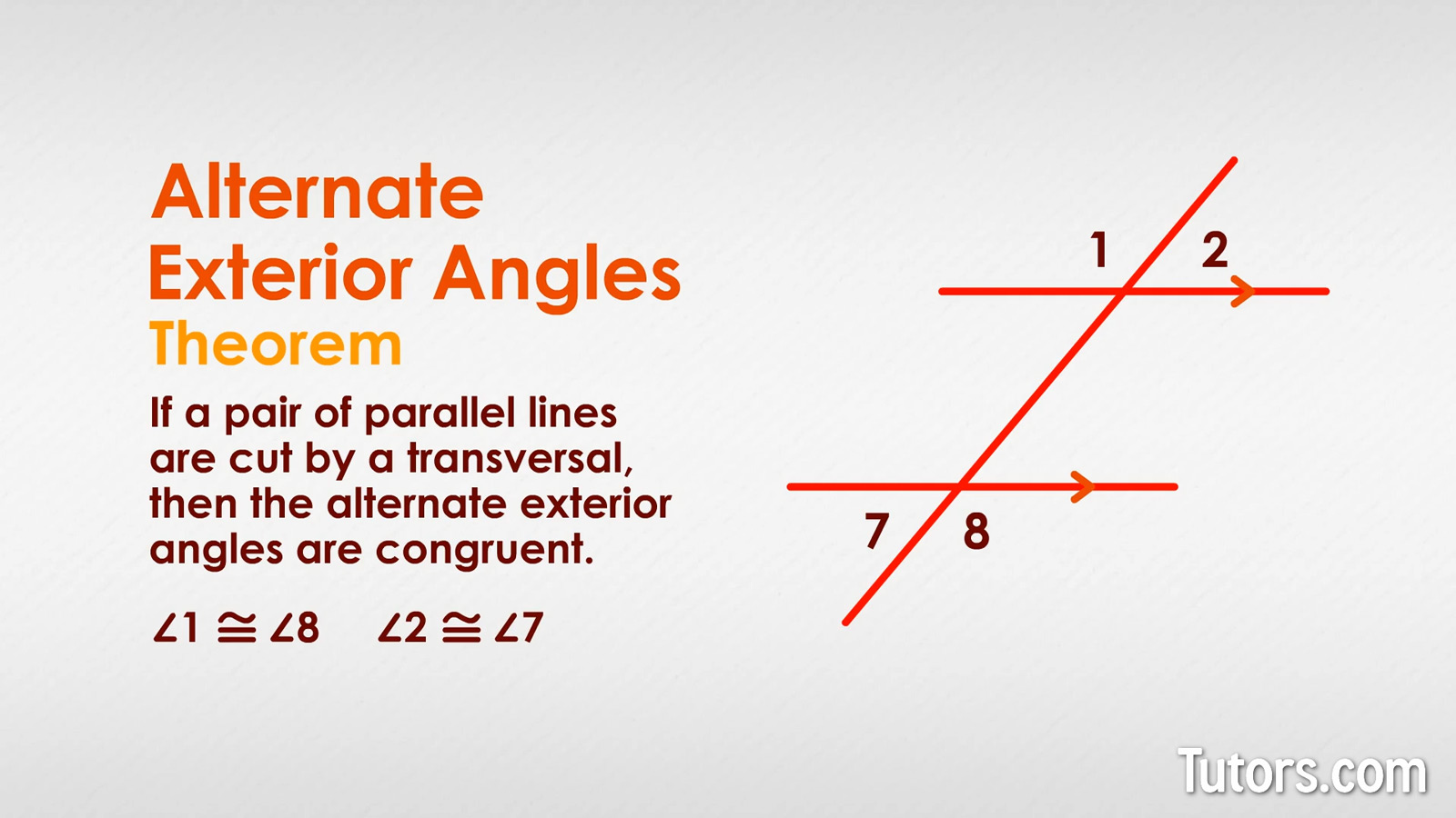 Alternate Exterior Angles Definition Theorem Examples