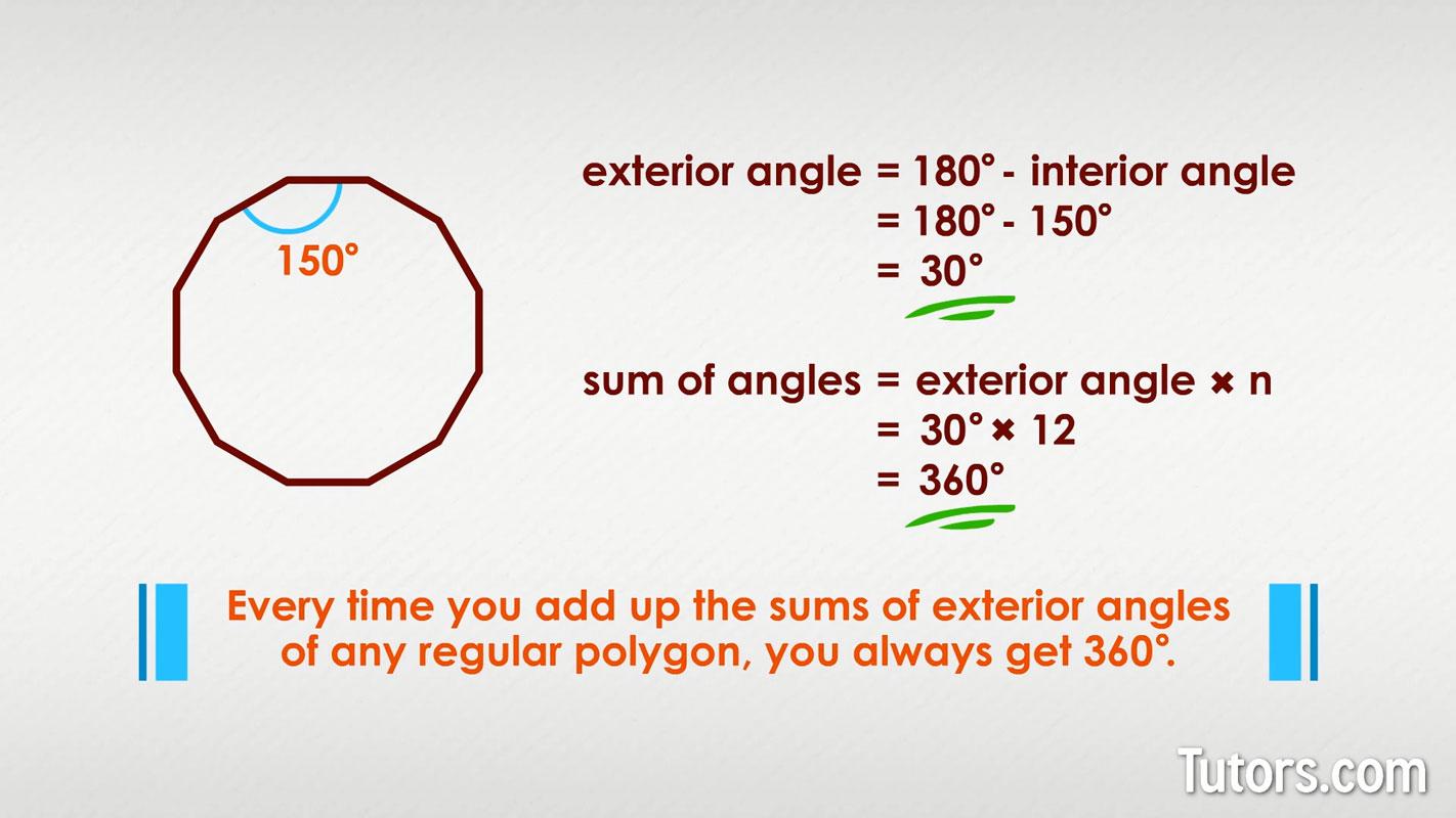 Sum Of Interior Amp Exterior Angles Polygons Pentagon