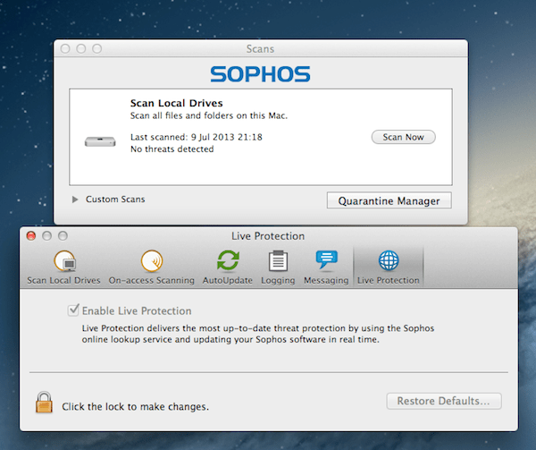 Sophos est beaucoup plus étendu, mais plus cher en même temps.