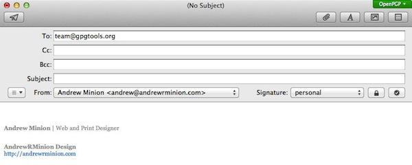 GPGTools-crypté par e-mail