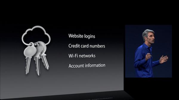 L'introduction du trousseau iCloud à la WWDC 2013.