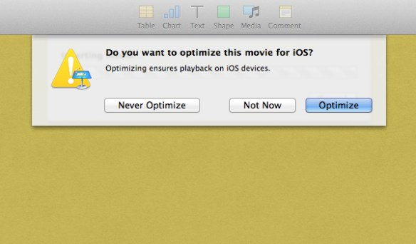 Optimise for iOS.