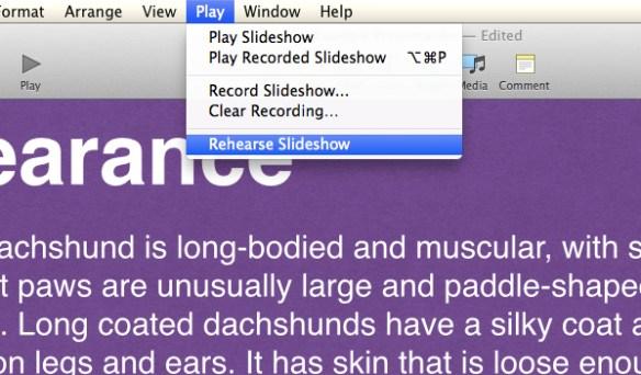 Click Rehearse Slideshow.