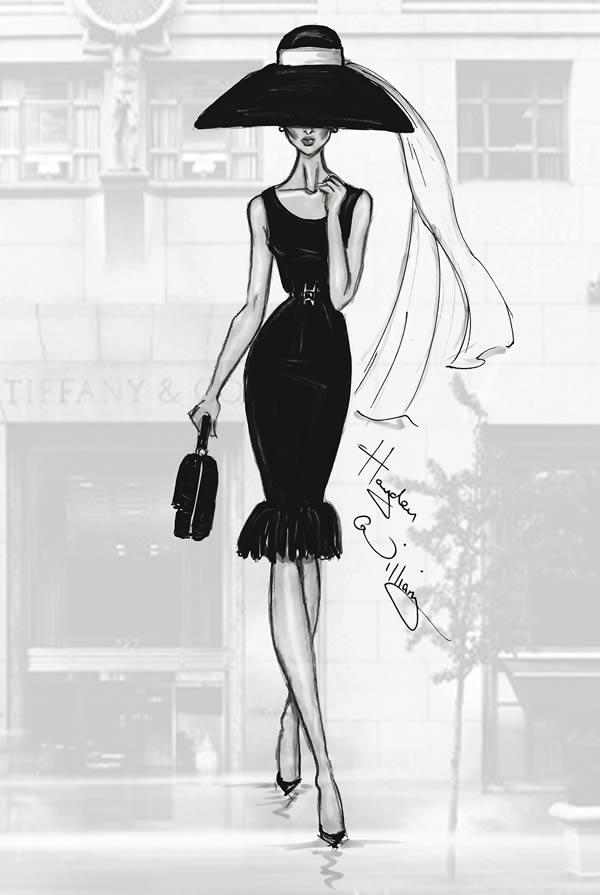12 Stunning Fashion Sketches by Hayden Williams A Trip To Tiffany s