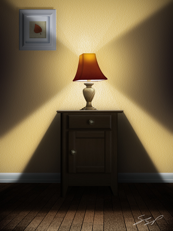 Use Photoshop to Create a Still Life Lamp  Nightstand  and Picture Frame Conclusion