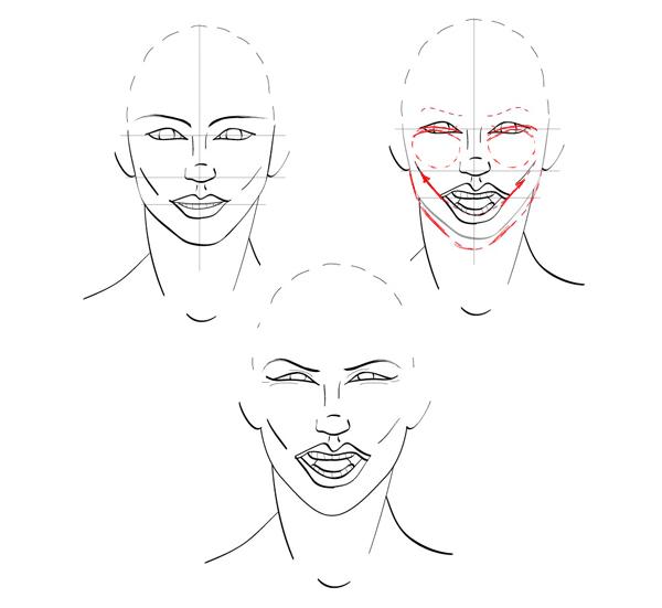 Sketch Side Profile Face Woman