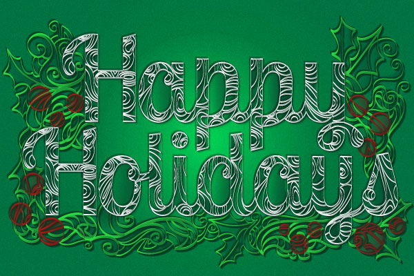 How To Create A Paper Quill Holiday Greeting In Adobe