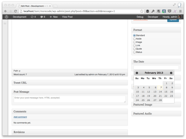 Incorporating the jQuery Date Picker Into the Post Editor ...