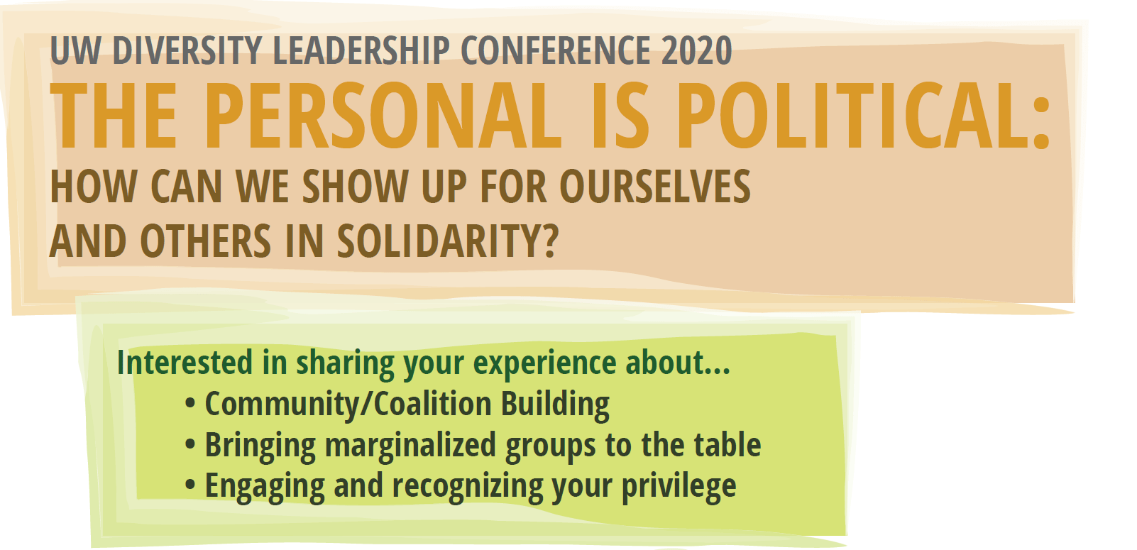 Diversity Leadership Conference Call For Workshop Ideas