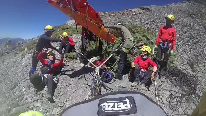 影/獨攀中央尖山失蹤 在死亡稜線發現遺體今完成吊掛   時事   聯合影音