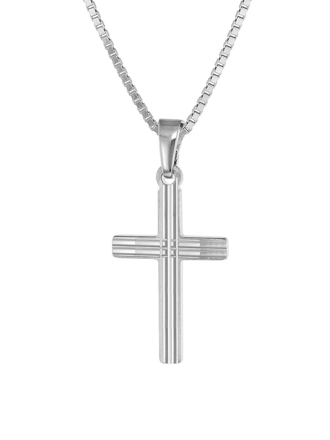 Trendor Silver Kids Necklace With Cross Uhrcenter