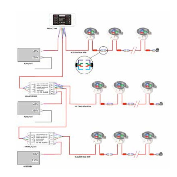ansell argbcr350 led rgb 350ma repeater 3 large?resize=600%2C600&ssl=1 wiring mains downlights diagram wiring diagram how to wire mains downlights diagram at mr168.co