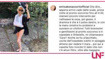 Incidente in vacanza per Enrica Bonaccorti, è caduta dalle scale