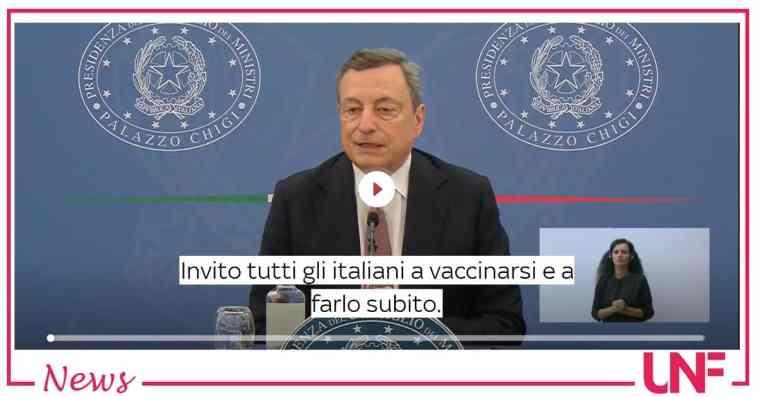 """Mario Draghi è chiaro: """"L'appello a non vaccinarsi è un appello a morire o far morire"""""""