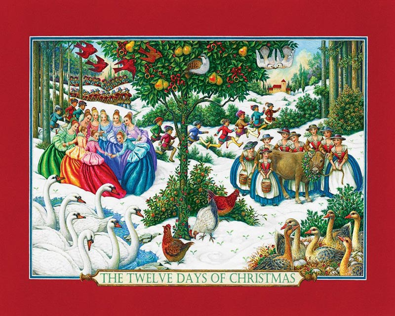 Twelve Days Of Christmas Jigsaw Puzzle