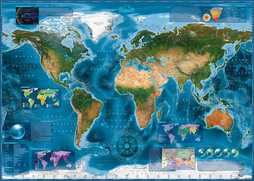 Satellite Map Jigsaw Puzzle   PuzzleWarehouse com Satellite Map