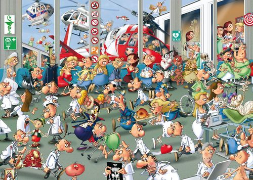 Accidents and Emergencies Cartoons Jigsaw Puzzle