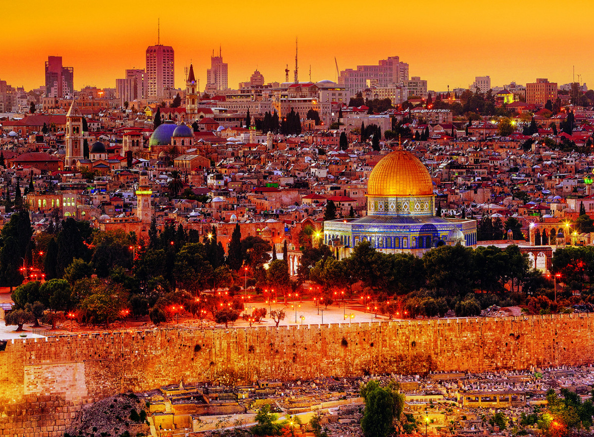 The Roofs Of Jerusalem Jigsaw Puzzle