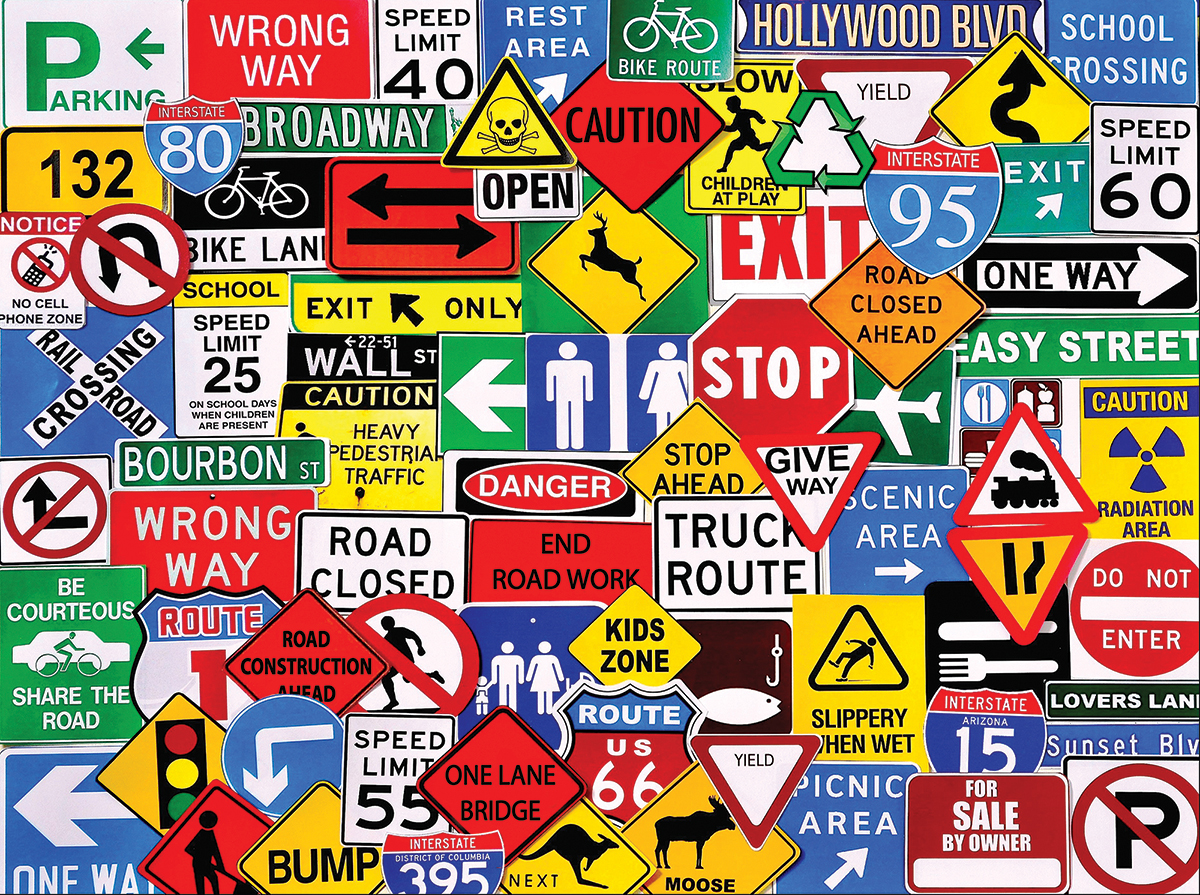 Road Signs Jigsaw Puzzle