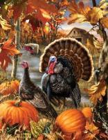Gobbler Farms Thanksgiving Large Piece