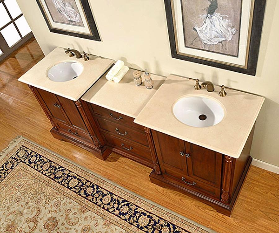 87 inch double sink bathroom vanity