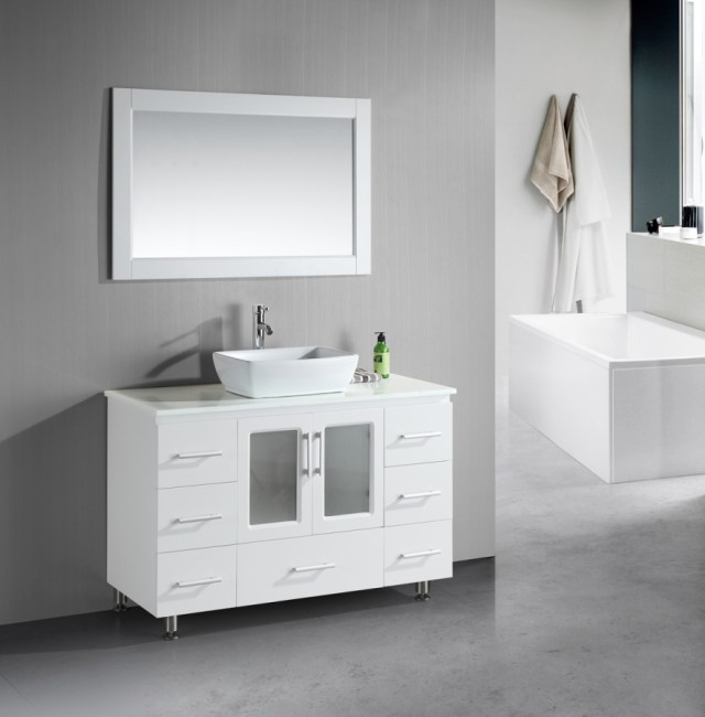 48 Inch Single Sink Bathroom Vanity with Lots of Drawers ... on {keyword}