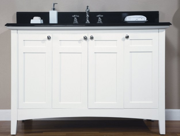 48 inch single sink shaker style bathroom vanity with choice of