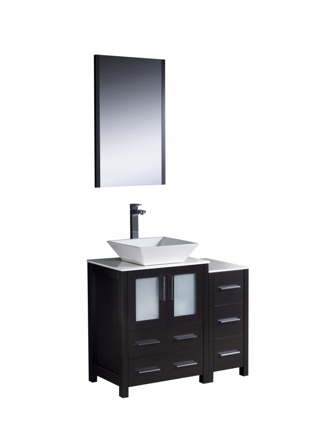 36 Inch Vessel Sink Bathroom Vanity In Espresso